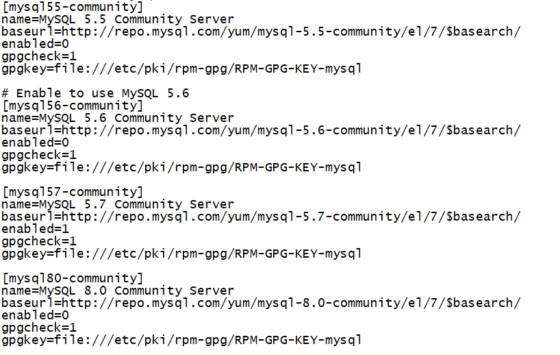 mysql57-community配置